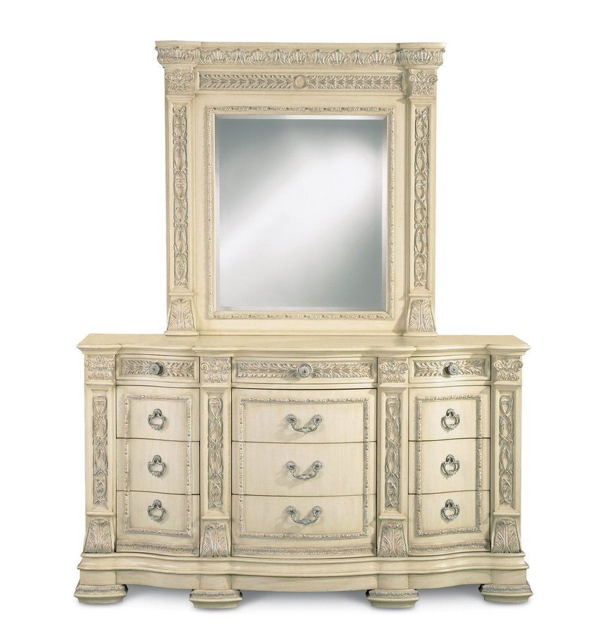 Pulaski Royale Silver Bisque Dresser