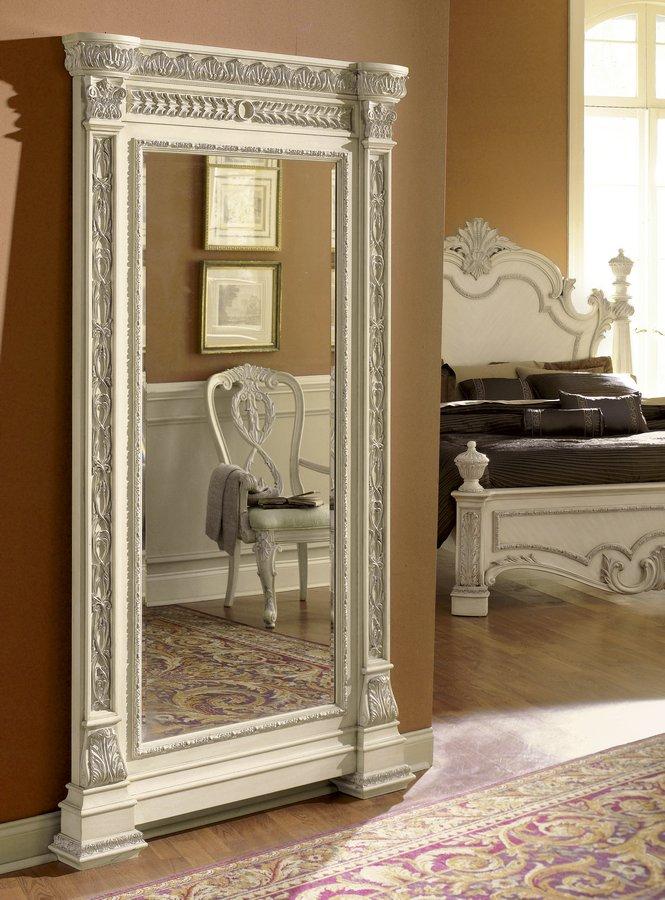 Pulaski Royale Silver Bisque Floor Mirror