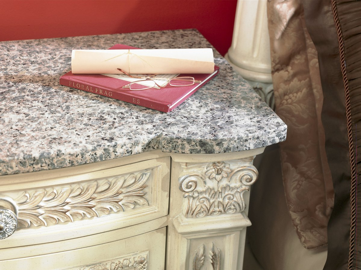Pulaski Royale Silver Bisque Stone Top Nightstand