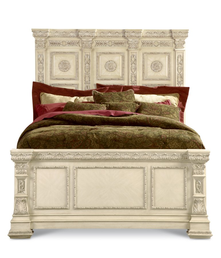 Pulaski Royale Silver Bisque Panel Bed