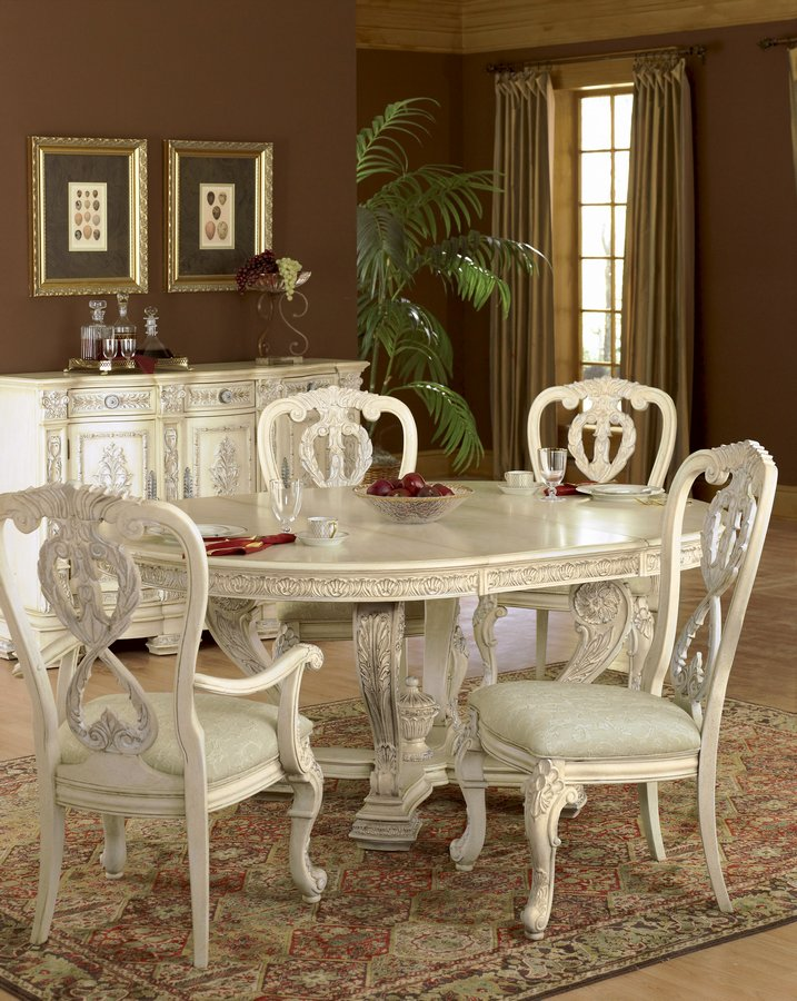 Pulaski Royale Silver Bisque Round Table