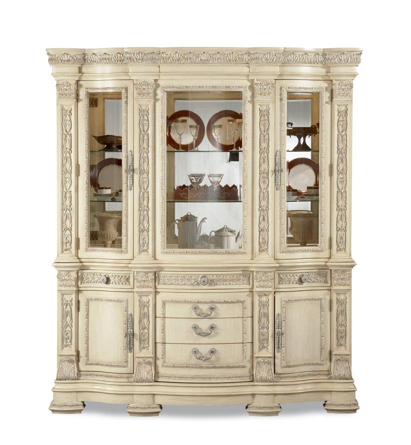 Pulaski Royale Silver Bisque China Cabinet