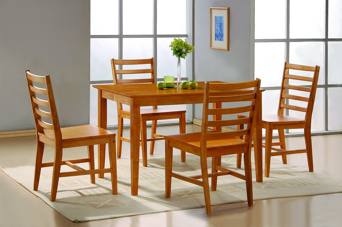 Homelegance Casual Oak 5Pc Pack Dinette Set