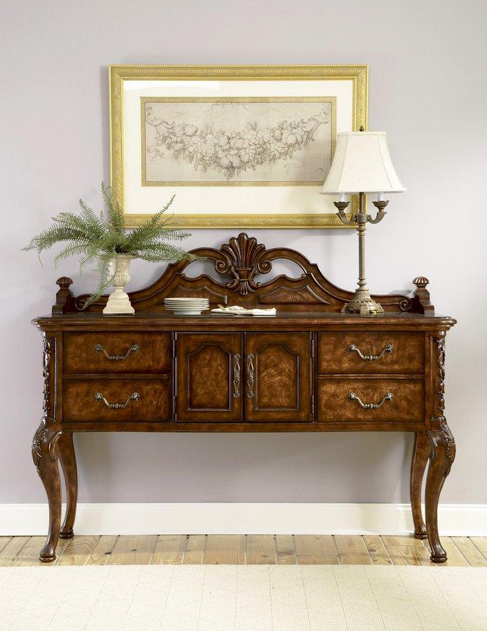 Pulaski renaissance court sideboard 624302 for Pulaski dining room furniture