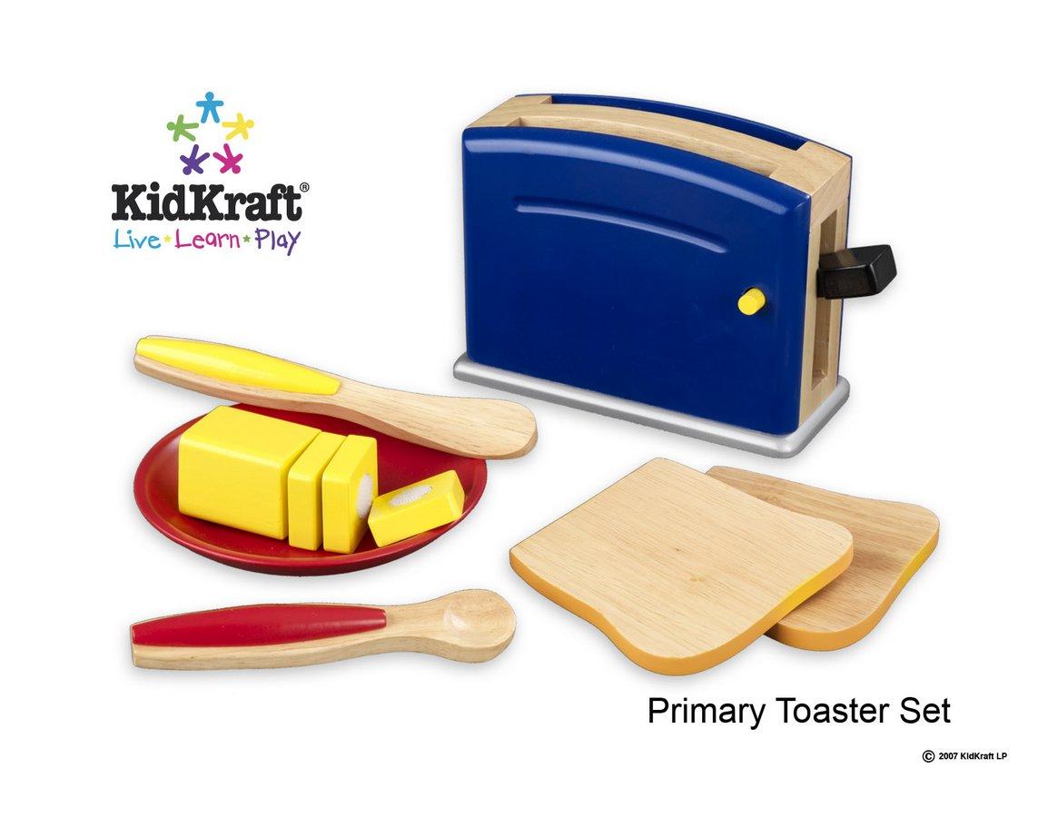 KidKraft Primary Toaster Set