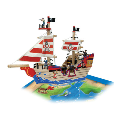KidKraft Pirate Ship Activity Set