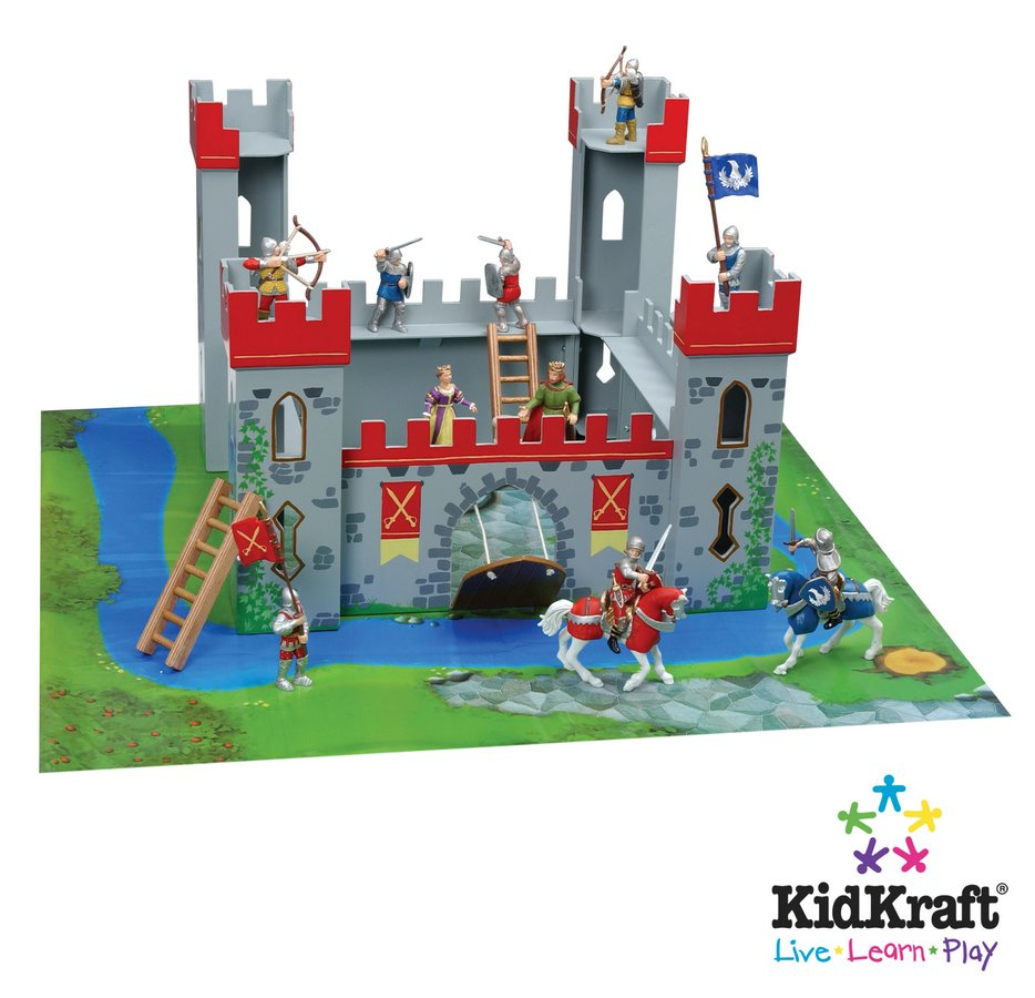 KidKraft Medieval Castle Playset - Slot Construction