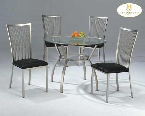 Homelegance Contemporary Side Chair, Black Pvc