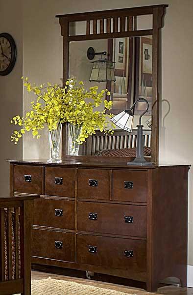 Homelegance Canton Maloney Mirror - Oak