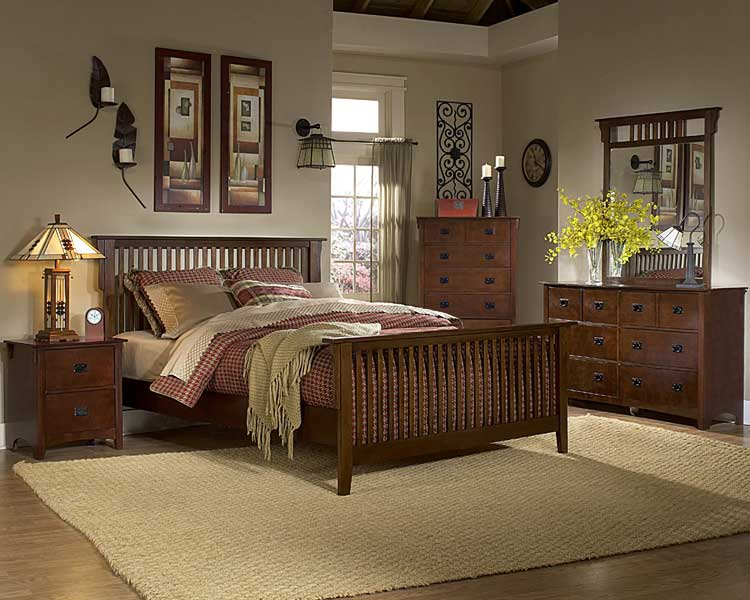Homelegance Canton Maloney Bedroom Collection - Oak