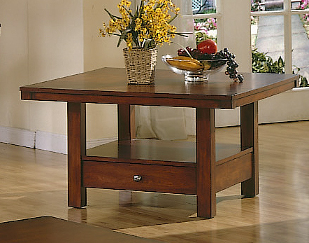 Square Coffee Table - Daffodil Square Coffee Table-Homelegance