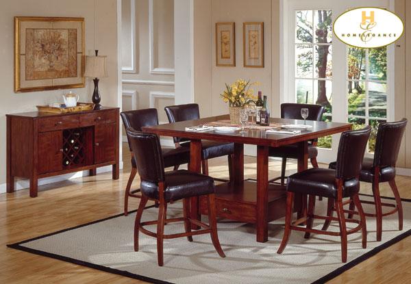 Homelegance Carnation Pub Chair Leather Match