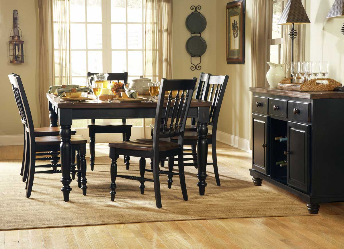 Cheap Homelegance Oxford Dining Collection Black