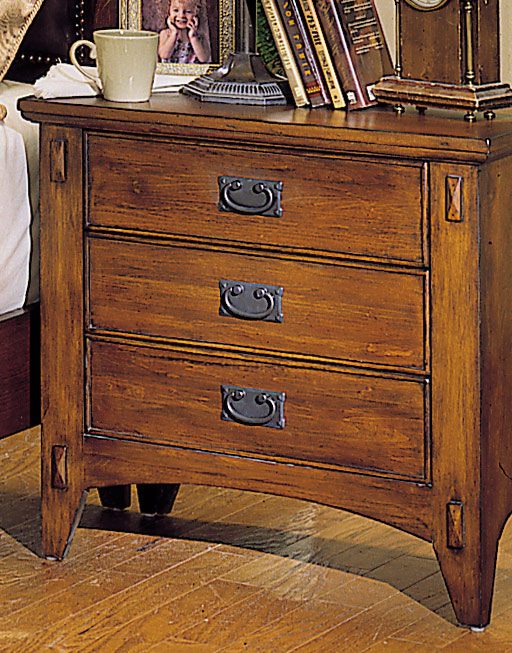 Homelegance Arts and Craft 3 Drawer Night Stand