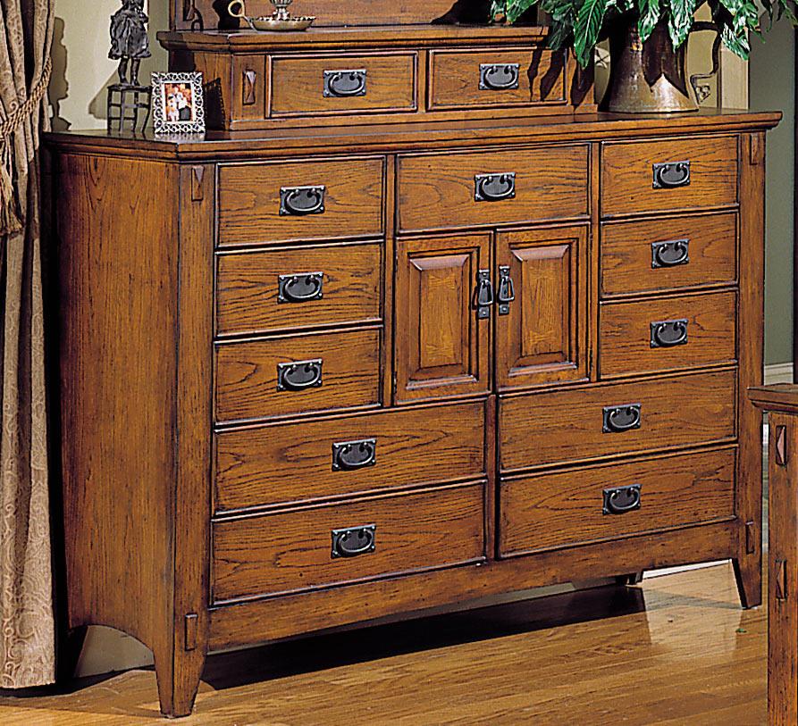 Homelegance Arts and Craft 11 Drawers 2 Door Mule Dresser