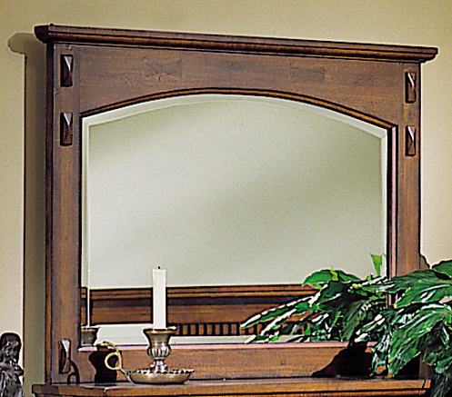 Homelegance Arts and Craft Beveled Mirror with 2 Drawer Jewelry Box-Homelega