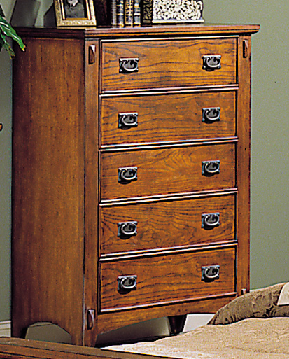 Homelegance Arts and Craft 5 Drawer Chest