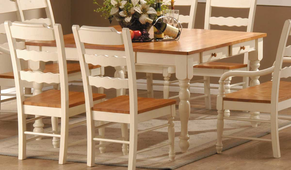 Homelegance Sedgefield Dining Table with Drawers in White  : 751W TABLE from www.homelement.com size 1200 x 702 jpeg 62kB