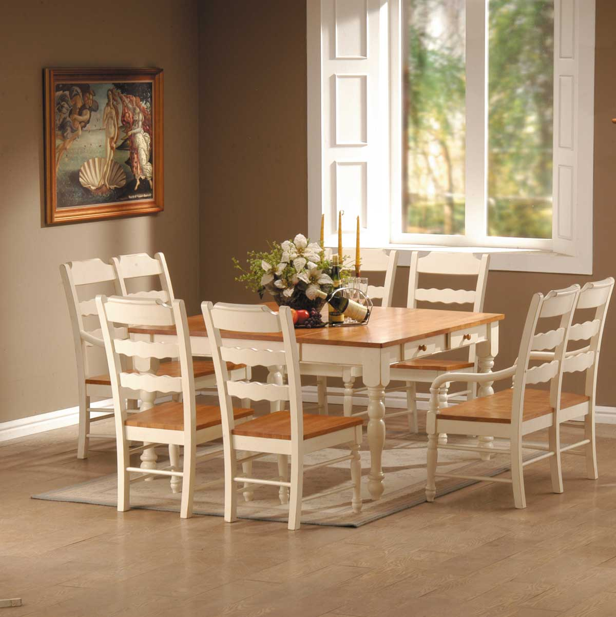 Homelegance Sedgefield Dining Table with Drawers in White  : 751W from www.homelement.com size 1200 x 1203 jpeg 92kB