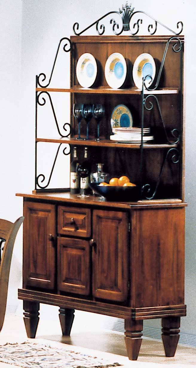 Homelegance Old World Bakers Rack with Storage