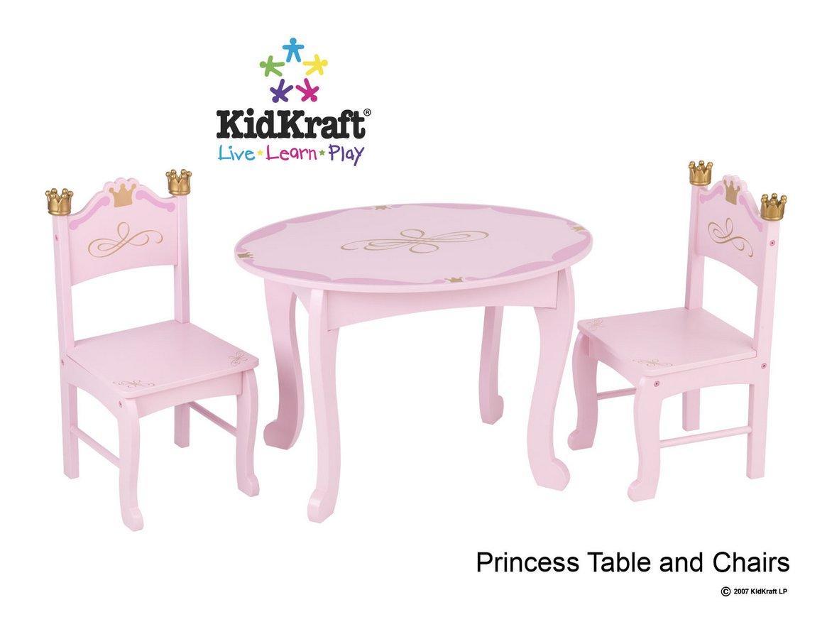 KidKraft Princess Table and 2 Chair Set