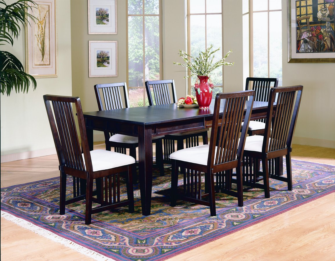 Homelegance Fresh Mission Dining Table Espresso