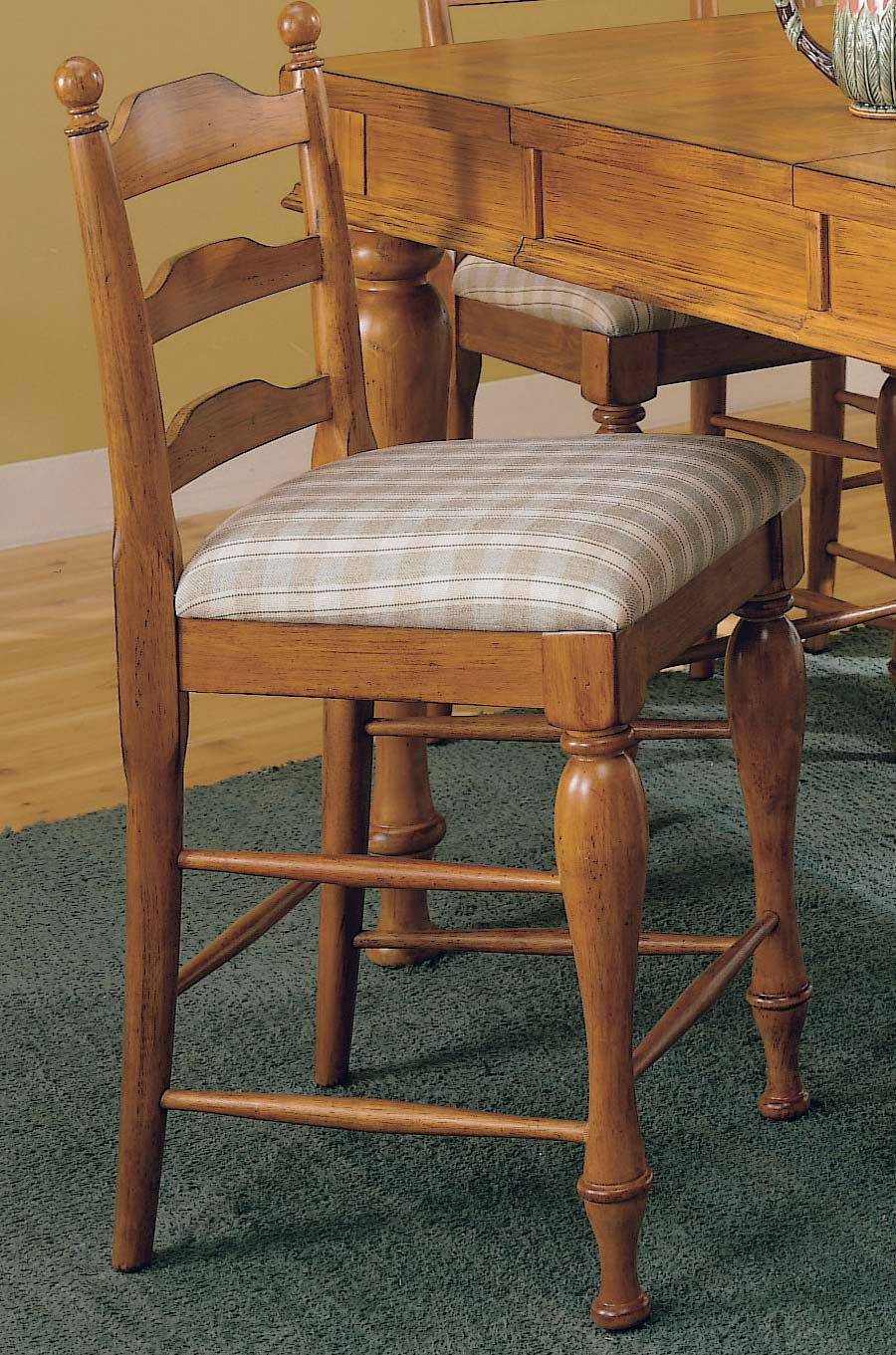 Homelegance Casual Moments Pub Chair Pine Finish