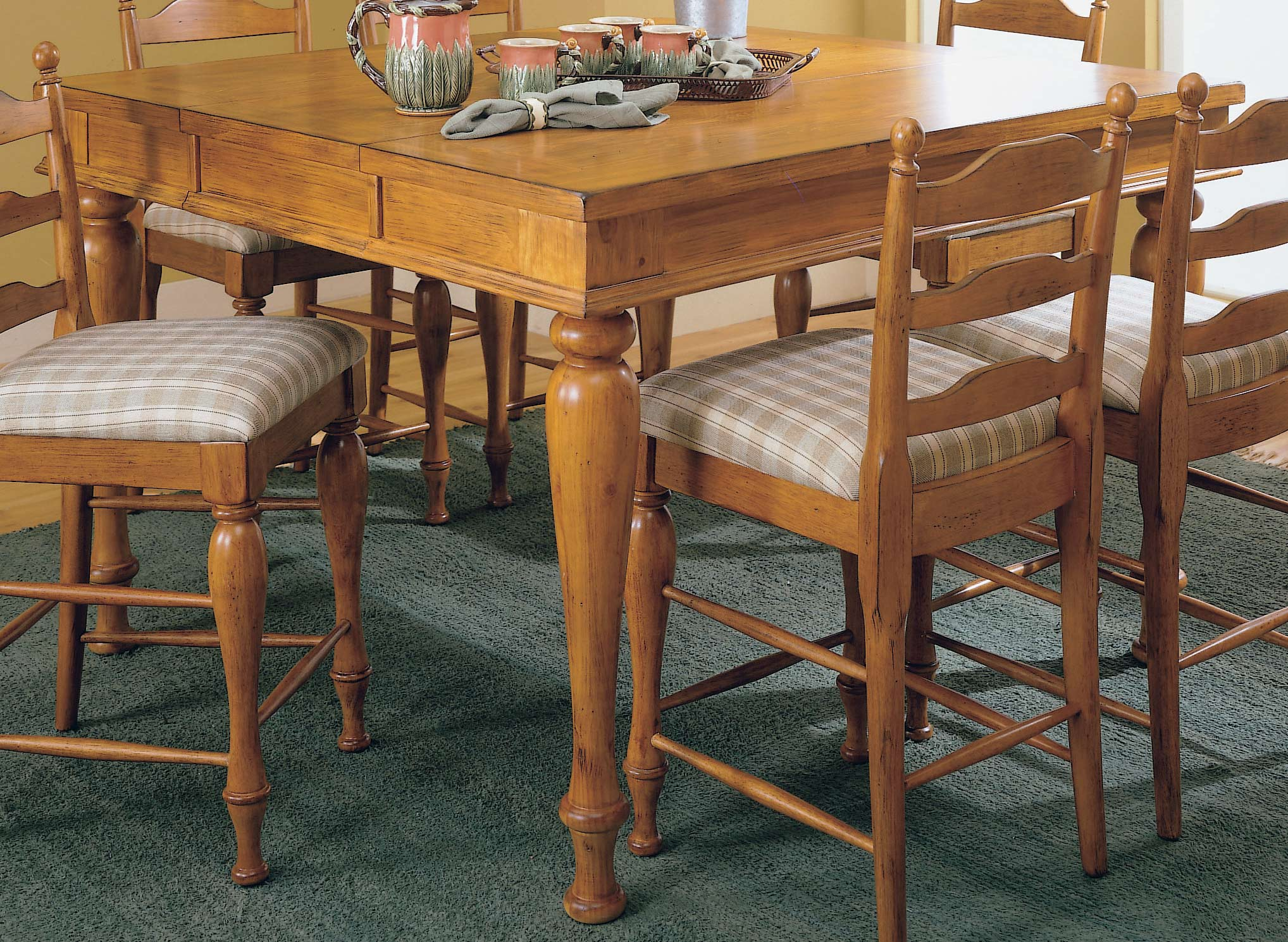 Homelegance Casual Moments Pub Height Dining Table Pine Finish