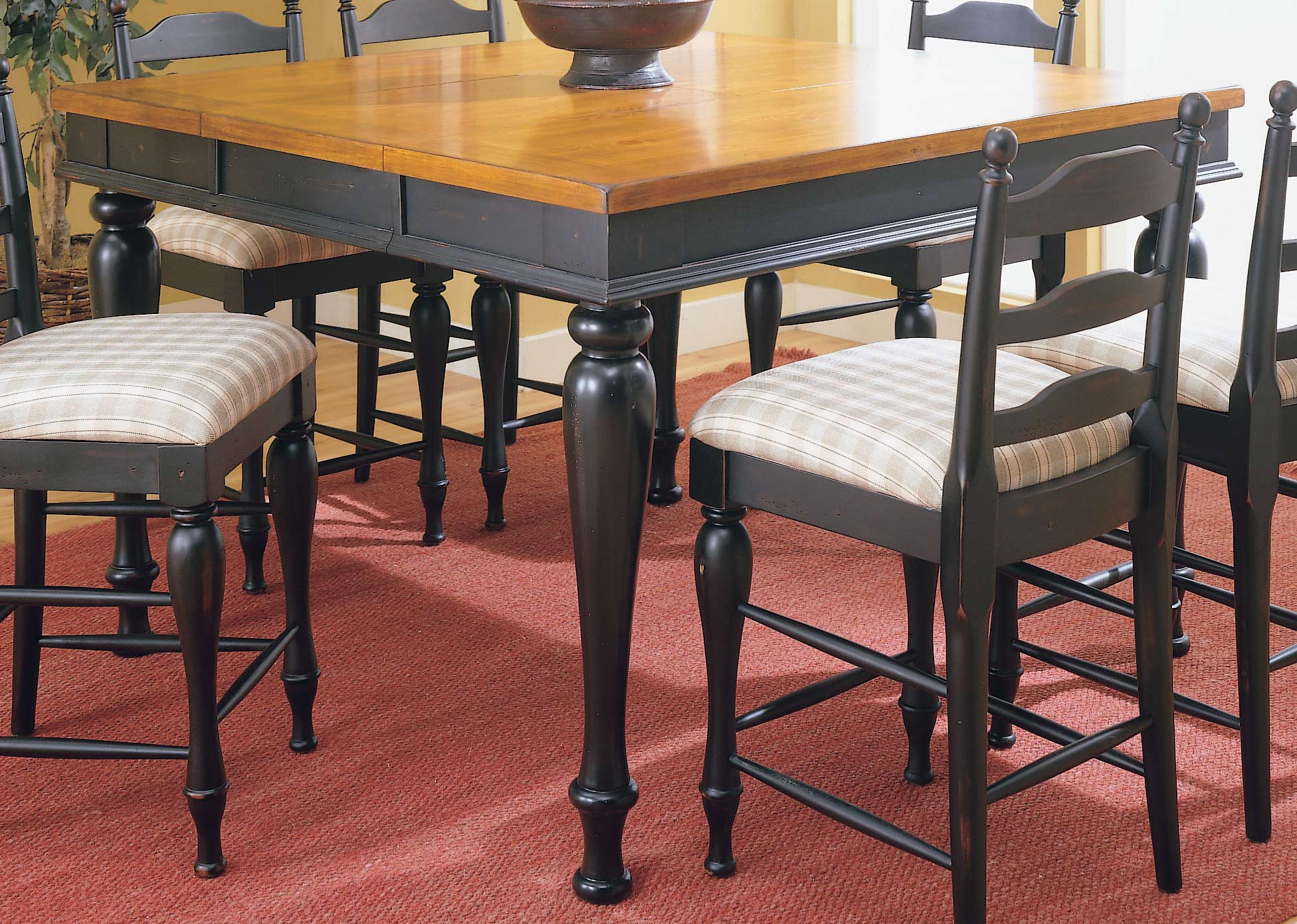 Homelegance Casual Moments Pub Height Dining Table Black Finish