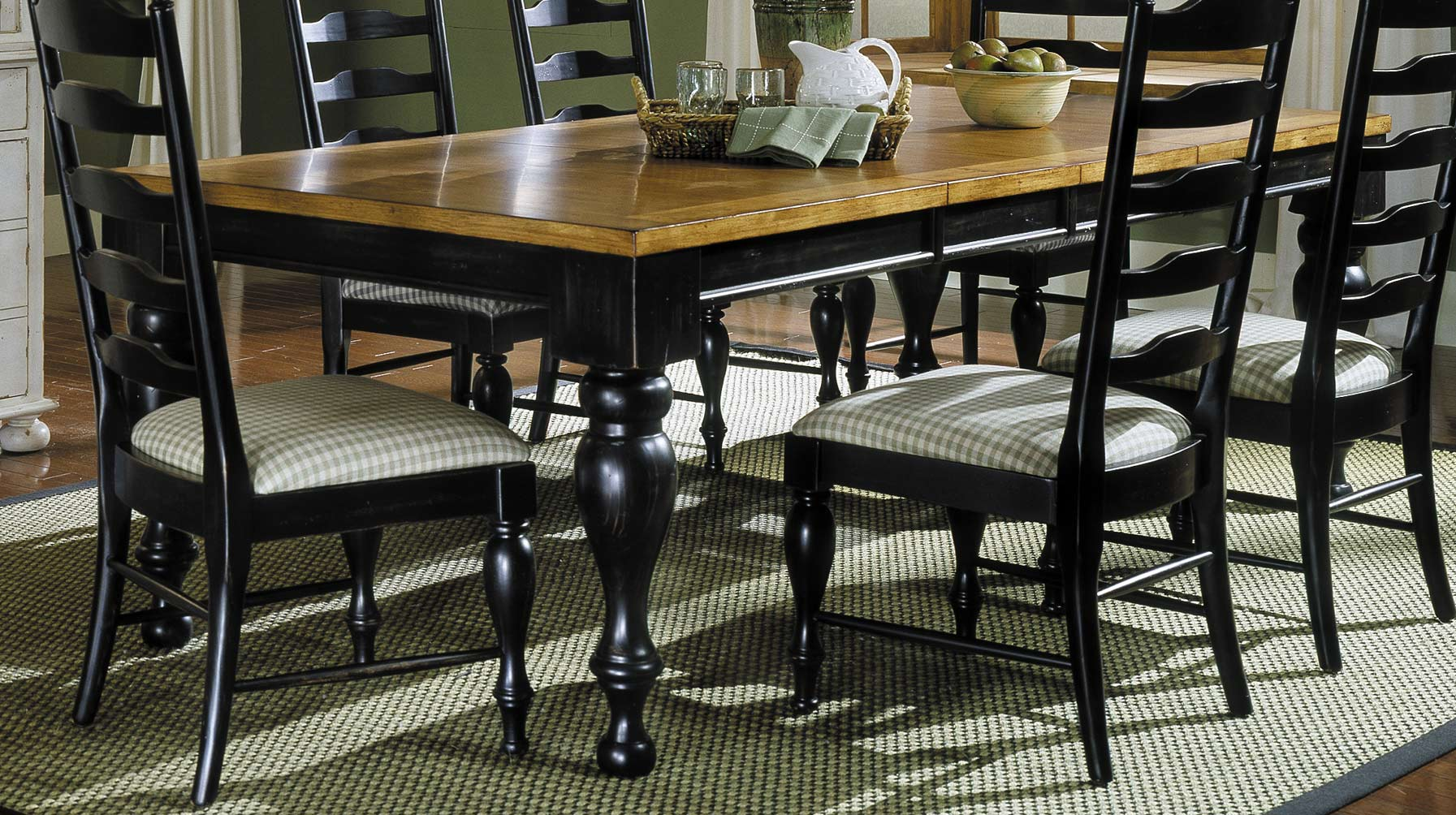 Homelegance Casual Moments Dining Table Antique Black