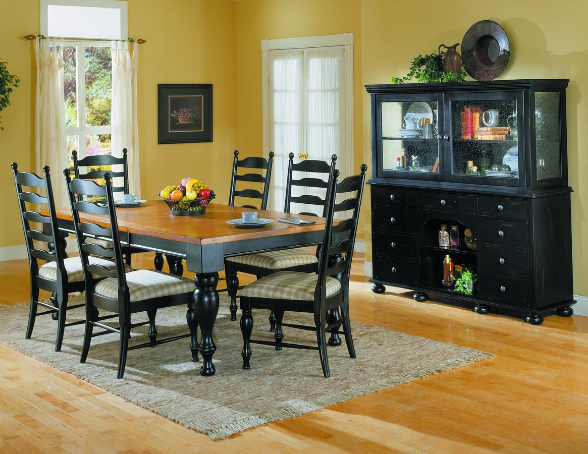 Homelegance Casual Moments Dining Collection Antique Black