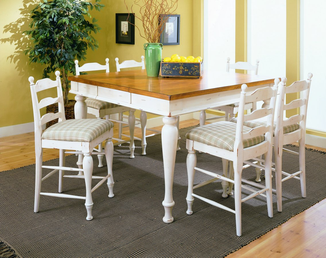 Homelegance Casual Moments Pub Height Dining Table White Finish