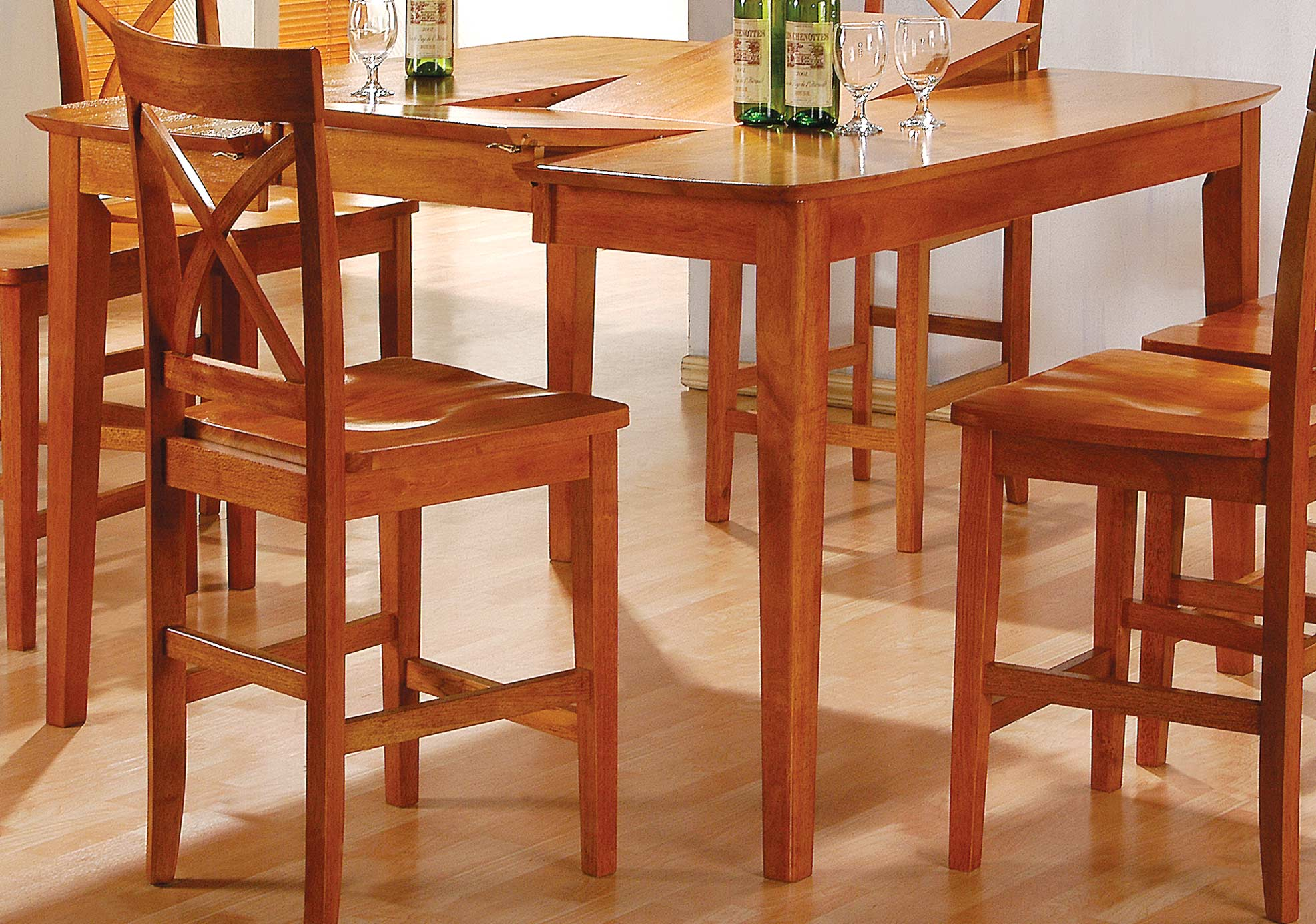 homelegance rockdale counter height dining table with 45in r
