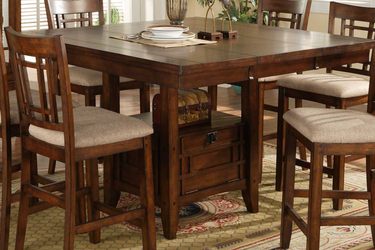 Dining table sophie counter height dining table for Tall dining table