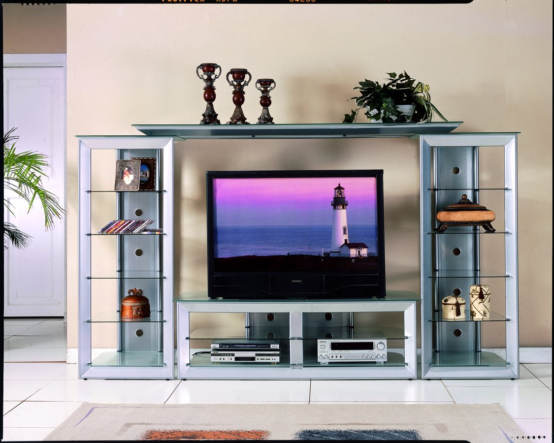 homelegance metal and glass tv stand 8011 t. Black Bedroom Furniture Sets. Home Design Ideas