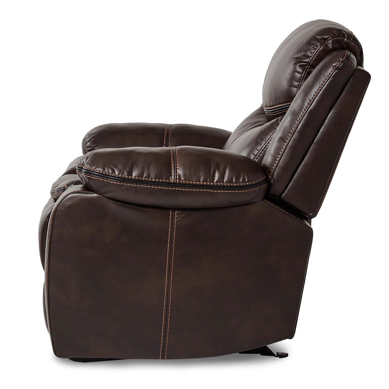Homelegance Bastrop Glider Reclining Chair - Dark Brown