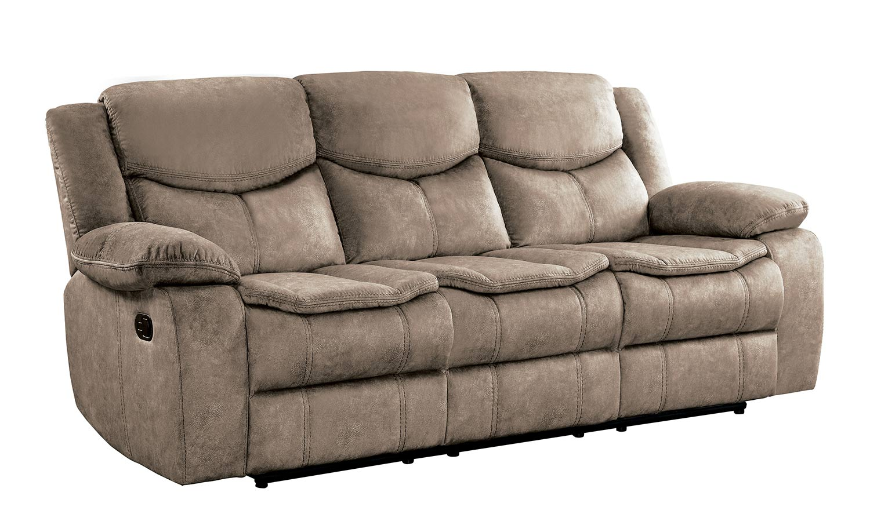 Homelegance Bastrop Double Reclining Sofa - Brown