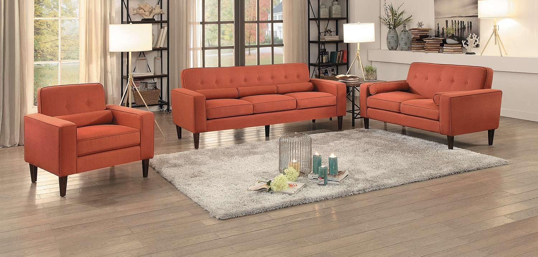 Homelegance Corso Sofa Set - Orange