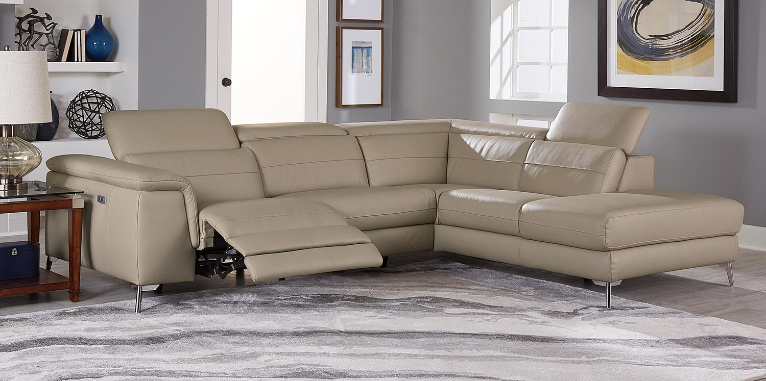 Homelegance Cinque Reclining Sectional Sofa - Taupe