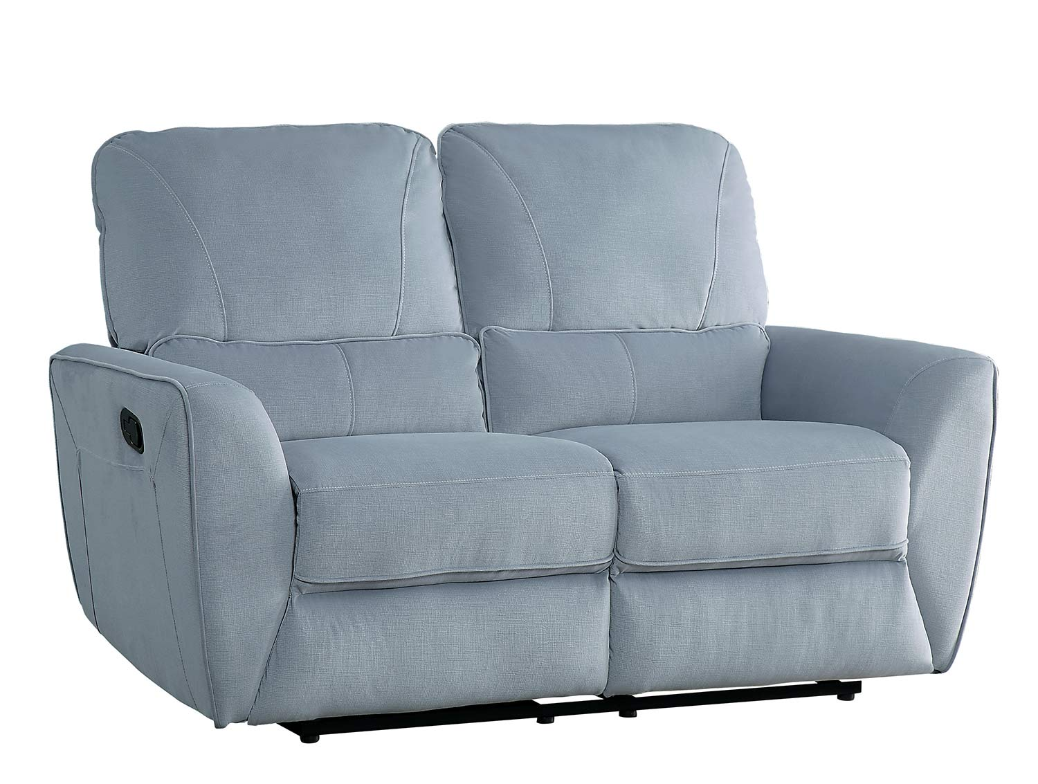 Homelegance Dowling Double Reclining Love Seat - Light Gray