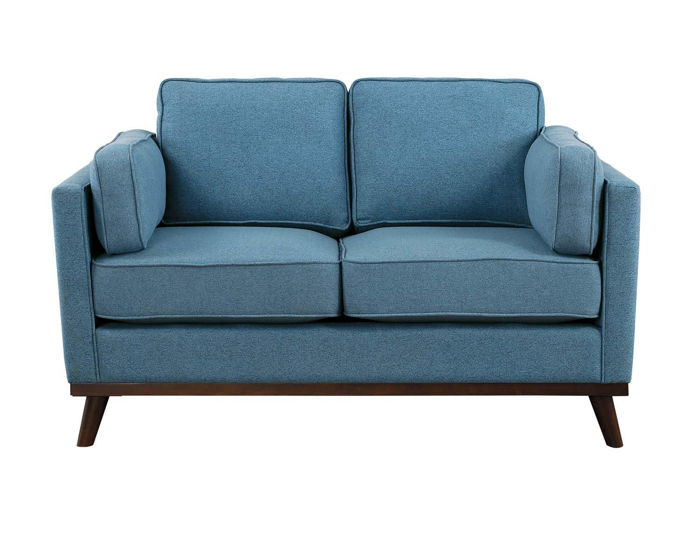 Homelegance Bedos Love Seat - Blue