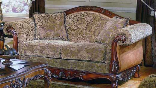 Cheap Homelegance Madrid Love Seat Fabric