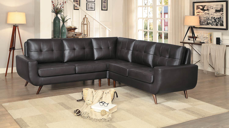 Homelegance Deryn Sectional Sofa - Dark Brown
