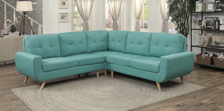 Homelegance Deryn Sectional Sofa - Teal