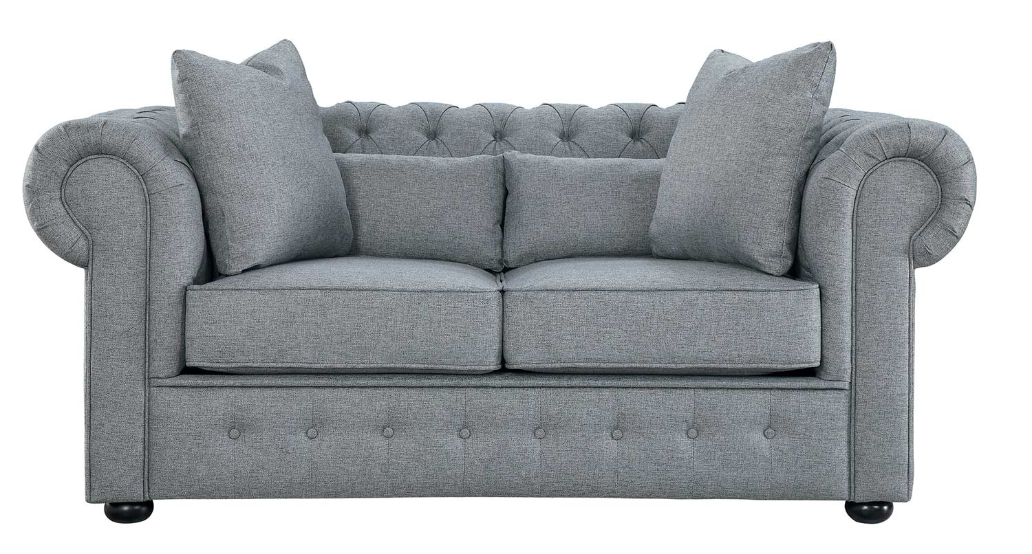 Homelegance Savonburg Love Seat - Gray