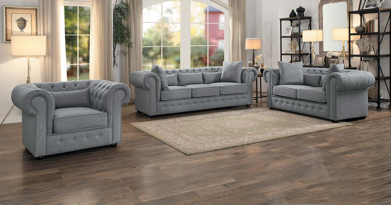 Homelegance Savonburg Sofa Set - Gray