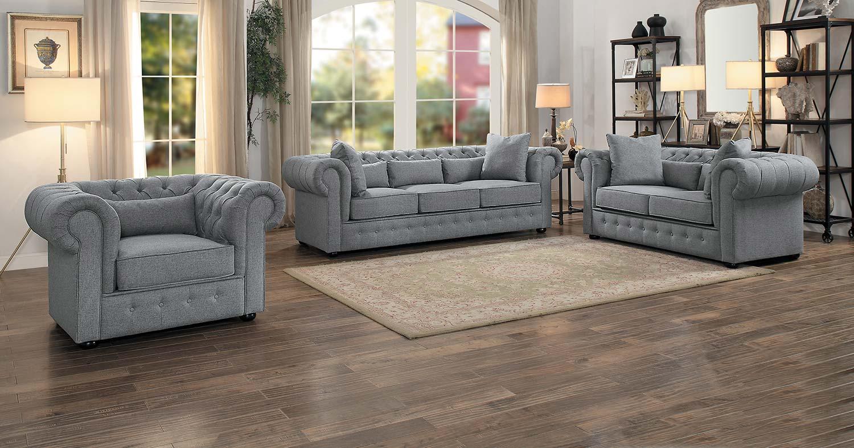 Homelegance Savonburg Sofa Set - Gray