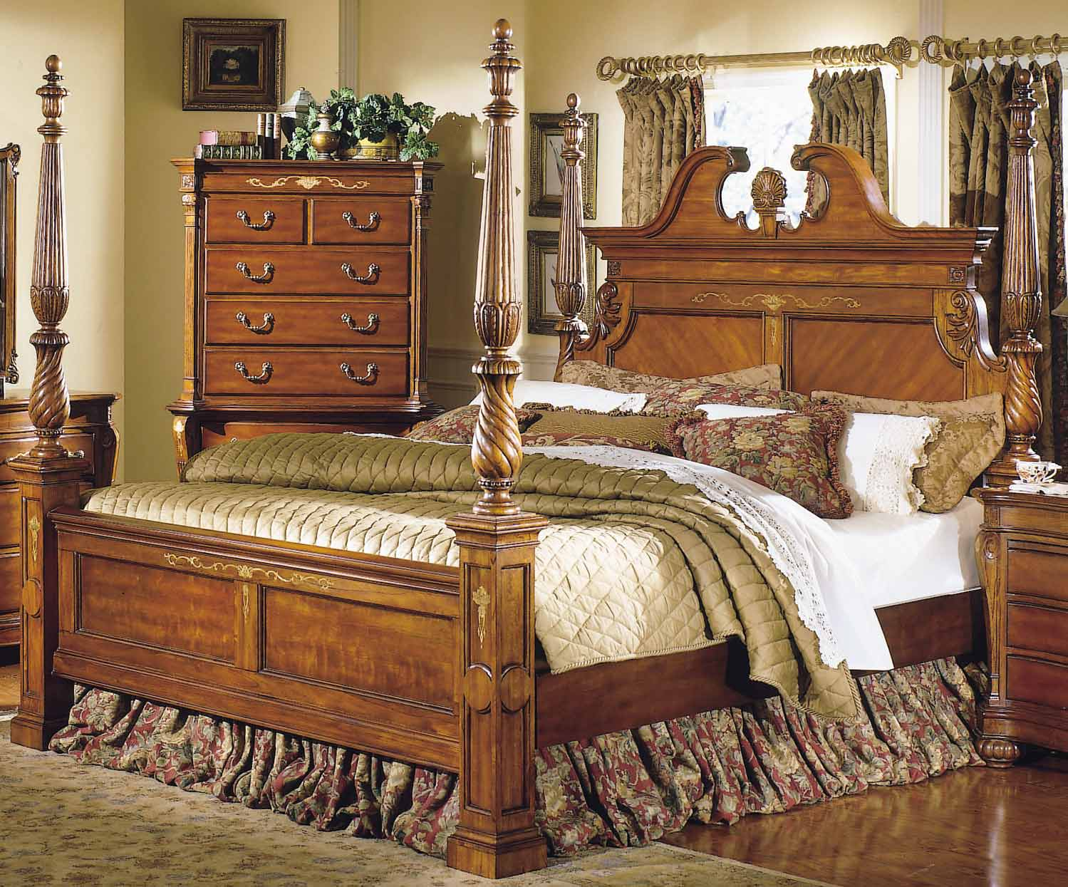 Homelegance Grand Isle Queen Poster Bed