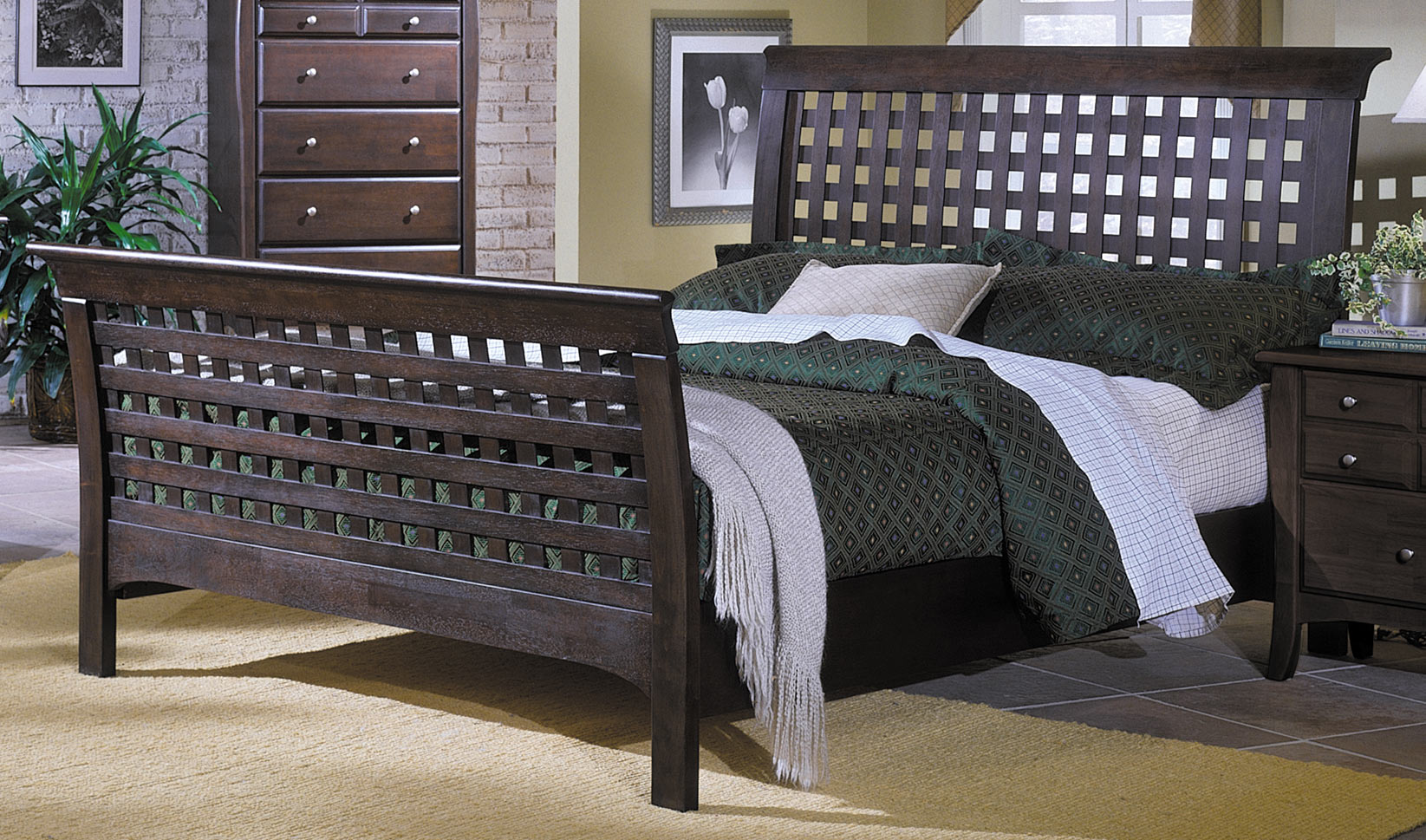 Homelegance Cosmos Bed with Wood Rails