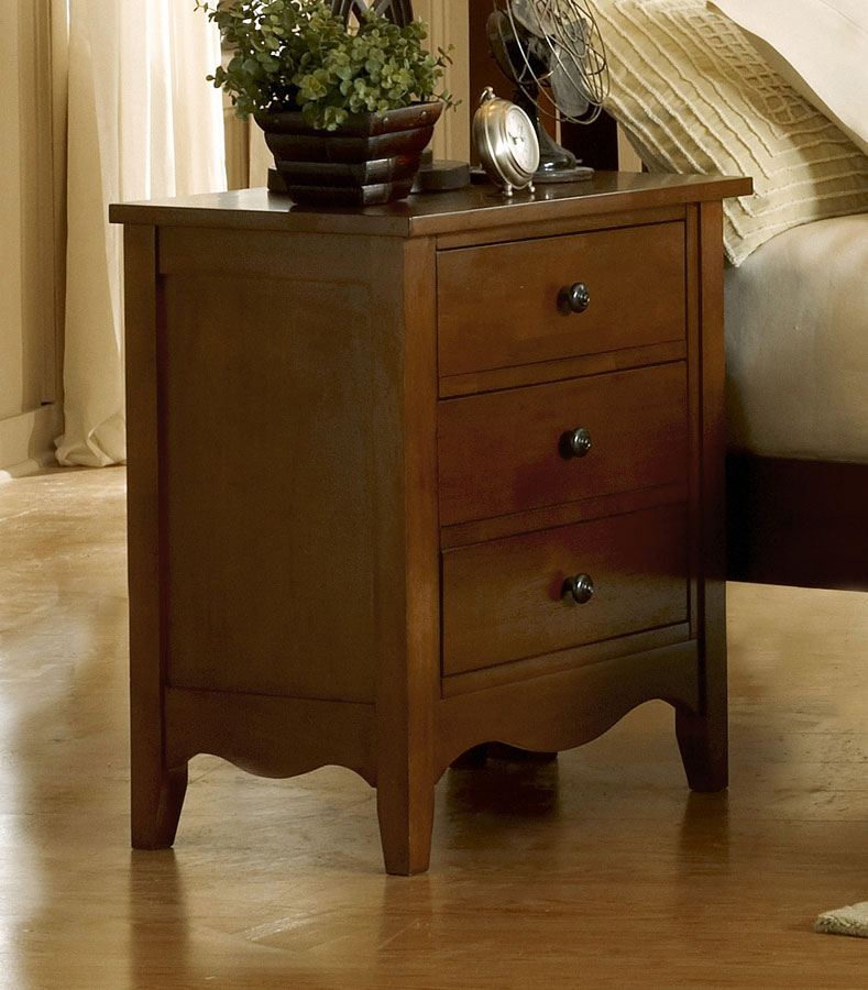 Homelegance Brookwood Night Stand Cherry Finish